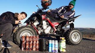 Experimente mit dem QUAD! - 10 Cola Dosen, Wasserkocher und MEHR!