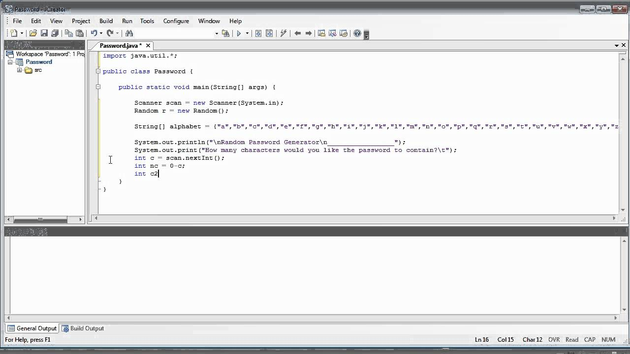 Java Tutorial 11 PROGRAM Random Password Generator
