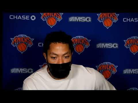 Knicks Derrick Rose Postgame Interview New York win vs Charlotte Hornets