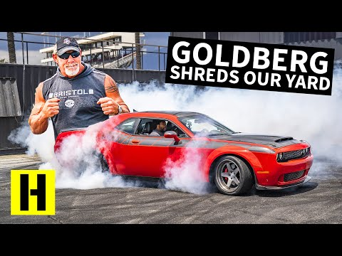 Goldberg Wrestles 1,200hp Worth of Dodge Challenger, Who Will Win??