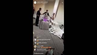Продолжение свадьбы Жени Кузина и Саши Артёмовой, прямой эфир 24-11-2017