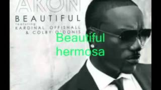Repeat youtube video akon beautiful letra en ESPAÑOL - INGLES