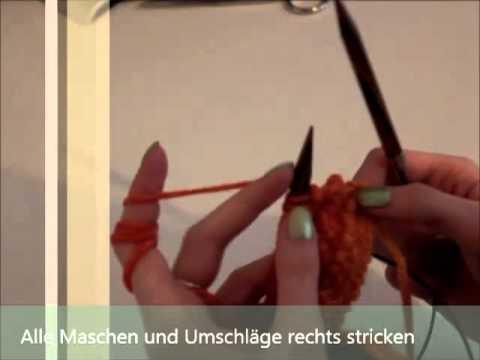 Rüschenschal stricken Anleitung (DIY) - YouTube