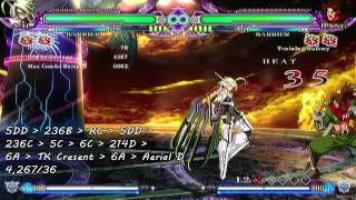 BlazBlue: Continuum Shift Extend - λ-11 Tutorial Video (2/3)