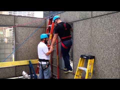 Brian Sims Rappels Down Commerce Center Building in Philadelphia