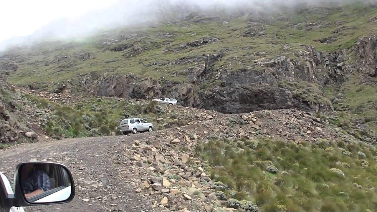 Sani Pass 4x4 Trip 3 Minute Drive Near The Top Of Sani