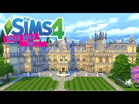 The Sims 4 -Speed Build- Waddesdon Manor! (Part 1/3) Exterior - No CC -