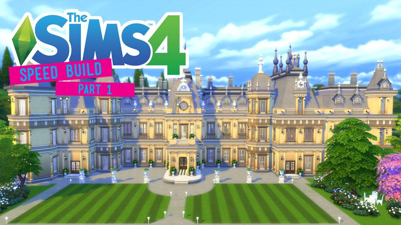 The Sims 4 Speed Build Waddesdon Manor Part 1 3