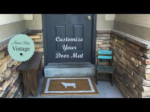 How To Paint A Door Mat