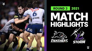 Panthers and Storm clash goes down to final seconds   Round 3 2021   Match Highlights   NRL