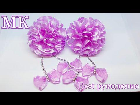 Воздушные цветы из органзы / Organza Bows / МК / DIY