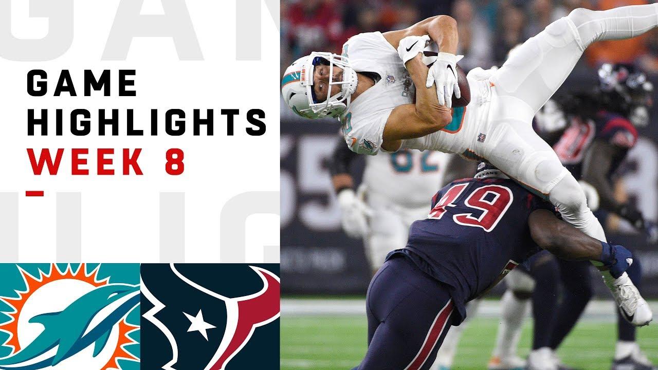 Dolphins vs. Texans Week 8 Highlights   NFL 2018