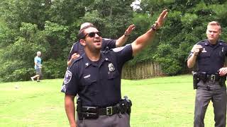 Tega Cay police take on viral lip sync challenge with video on golf course, Lake Wylie