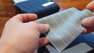 Holland & Sherry Crispaire Wool Worsted Suiting