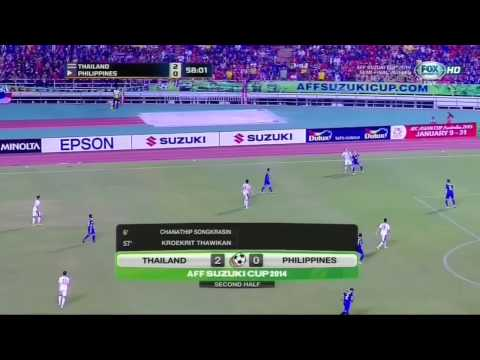 ฟุตบอล เอเอฟเอฟ ซูซูกิ คัพ  รอบรองชนะเลิศนัดที่ 2 ทีมชาติไทย 3-0 ทีมชาติฟิลิปปินส์