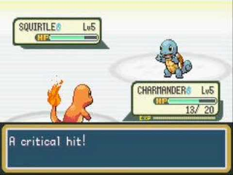Pokemon Fire Red First Battle Vs Rival Gary Youtube