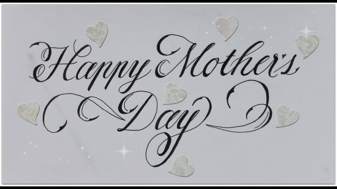 Cursive Fancy Letters How To Write Happy Mother S Day Easy Youtube