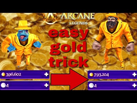 Arcane Legends Double Gold Trick!/how To Get Rich!/gold Glitch!