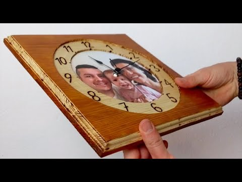 DIY clock from wood with your own picture