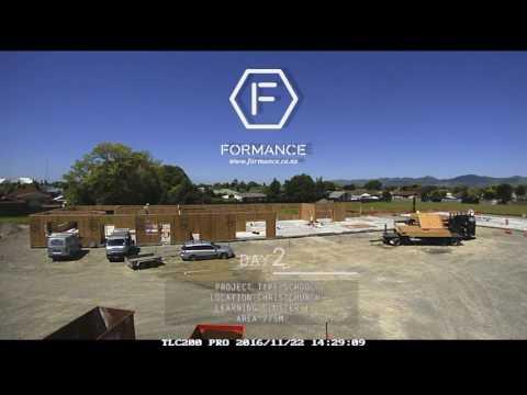 Christchurch School - Rapid Installation of Formance Panels