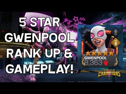5 Star Rank 4 Gwenpool Rank Up & Gameplay! - Marvel Contest Of Champions