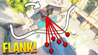 Calculating the PERFECT OP FLANK..! - 200IQ Moments & Insane OP clips - Overwatch Moments Montage