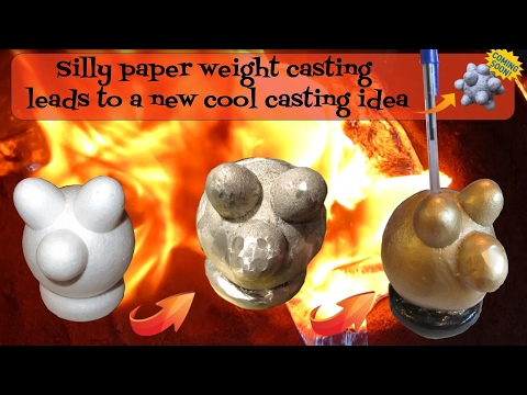 silly paper weight aluminum casting youtube