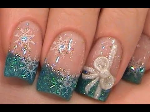 Acrylic Nails Tutorial My Nails For Christmas 2009 Youtube