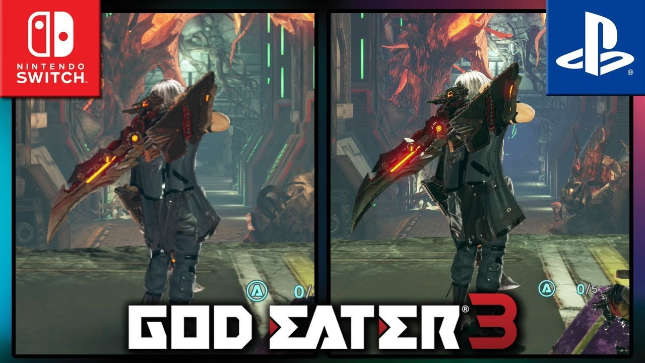 God Eater 3 | Switch VS PS4 | Frame Rate TEST