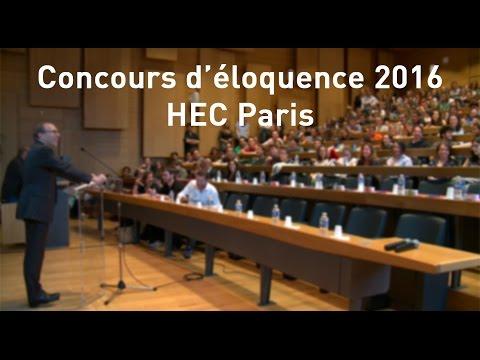Finale du Concours d'éloquence 2016 - HEC Paris