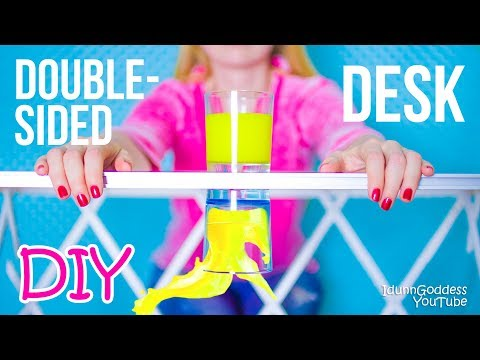 Thumbnail: DIY Multifunctional Double-Sided Desk – How To Make A Desk And Organize It