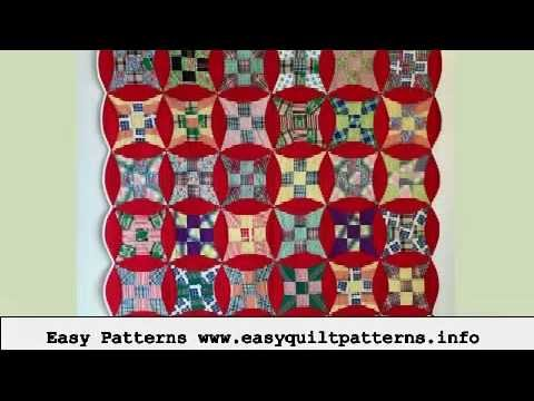 quilting made easy binding double wedding ring quilt YouTube