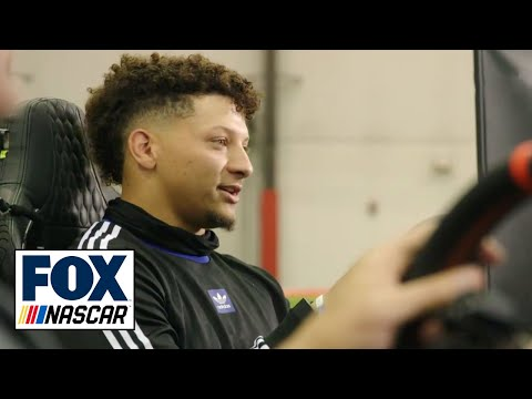 Patrick Mahomes takes on Clint Bowyer, Kyle Busch in iRacing | NASCAR ON FOX