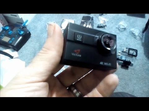 Victure Action Camera 4K WIFI Waterproof Sports Cam 20MP DRONE CAMERA  unboxing