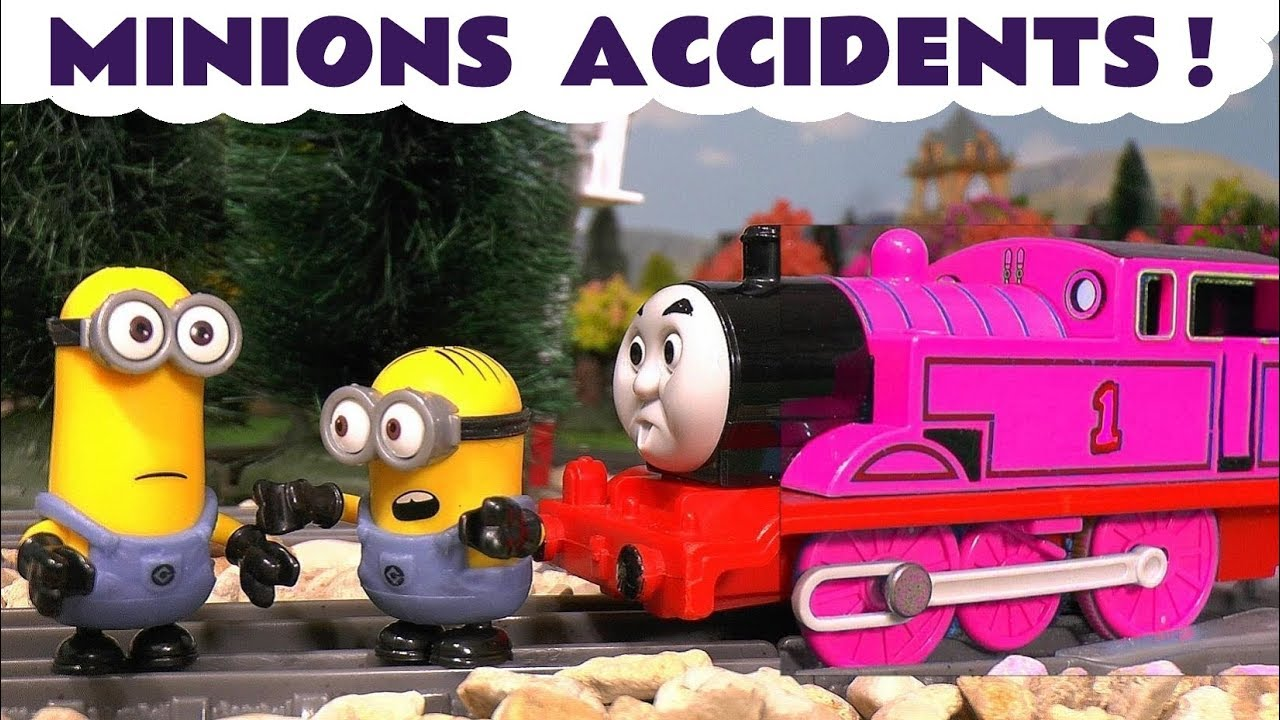 Minions Accidents with Color Changing Thomas & Friends Toy Trains ...