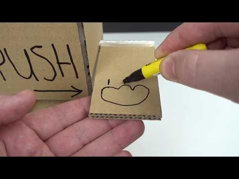 DIY Kitten Cat Food Dispenser from Cardboard at Home
