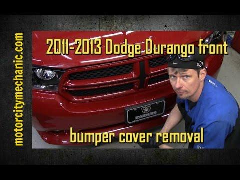 2011 2013 Dodge Durango Front Bumper Cover Fascia Removal