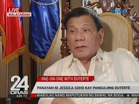 Panayam ni Jessica Soho kay Pangulong Duterte