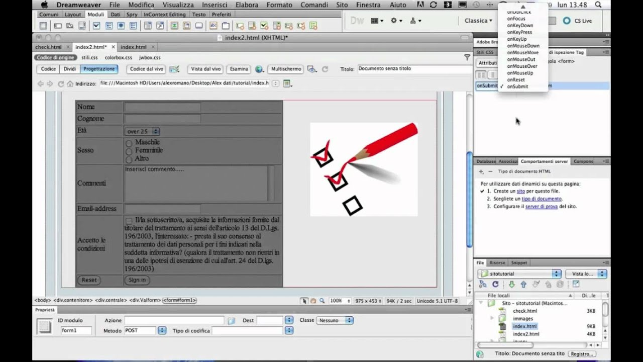 Validating forms in dreamweaver cs5