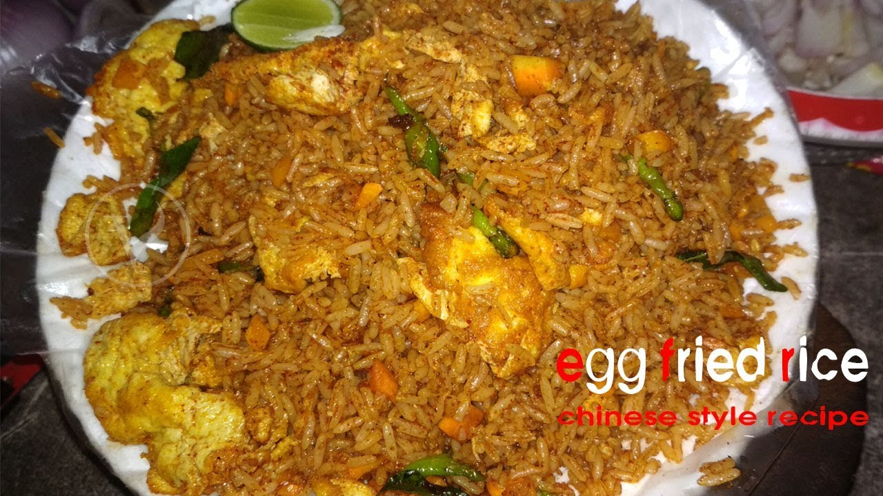 Midnight Egg Fried Rice Chinese Spicy Masala Food Late Night Meal Ideas
