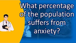What percentage of the population suffers from anxiety ? | BEST Health Channel & Answers