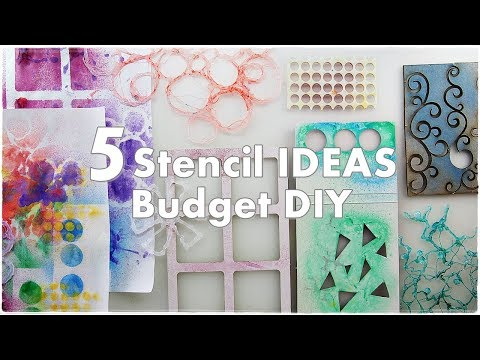 5 Stencil DIY Ideas for Mixed Media ♡ Art Journaling ♡ Maremi's Small Art ♡