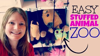 [No Drill] DIY Stuffed Animal Storage Solution | Stuffed Animal Zoo