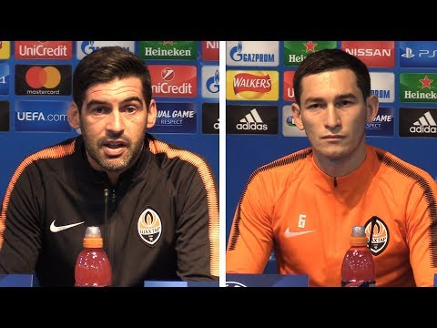 Paulo Fonseca & Taras Stepanenko Pre-Match Press Conference - Manchester City v Shakhtar Donetsk