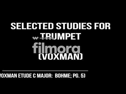 2017-18 Texas ATSSB Trumpet Etudes; Year B (Voxman C Major; Bohme; pg. 3)