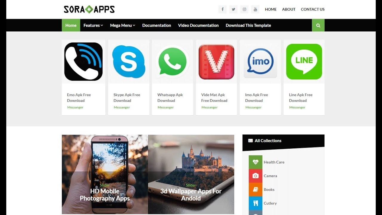 Latest Version] Responsive Apk Download Blogger Template