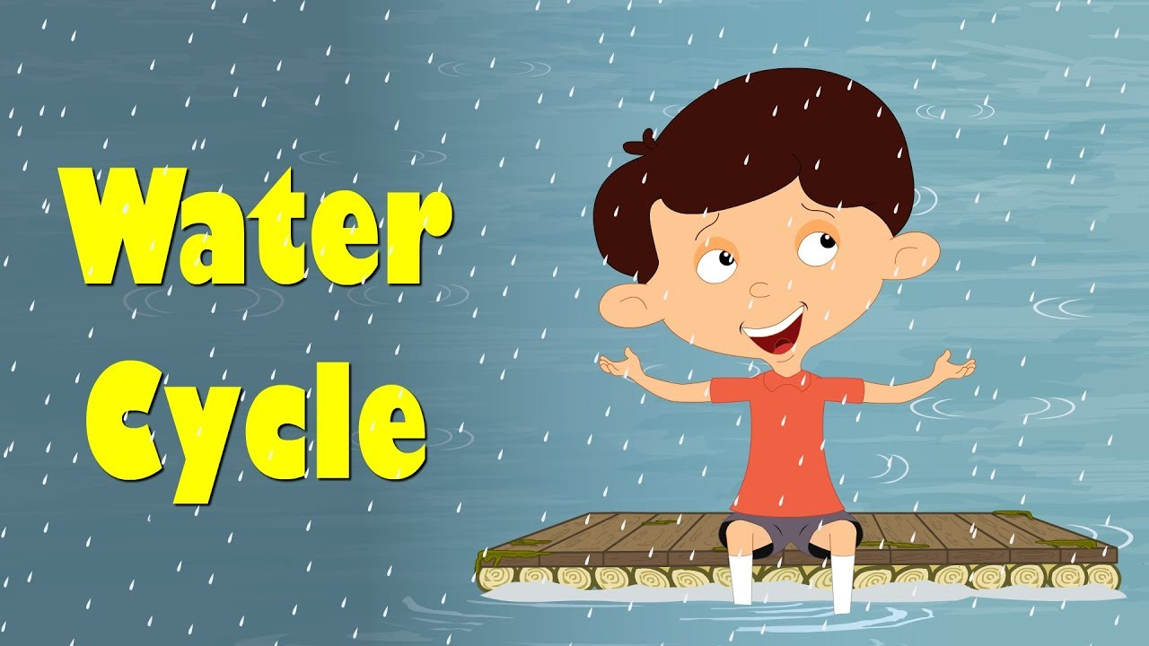 hight resolution of water cycle for kids aumsum