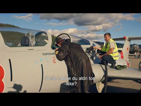Lothepus og Joar drar på flyshow