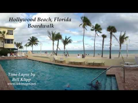 Time Lapse of Hollywood Beach Boardwalk