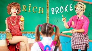 Rich Teacher vs Broke Teacher  25 Funny Situations in School
